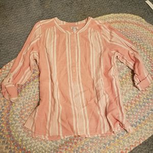 Pink striped D&co blouse